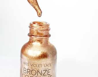 Coconut Shimmer Oil | Bronze Copper Shimmer Body Oil | Natural + vegan