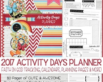 2017 Activity Days PLANNER, Faith in God Tracker, 2017 Primary Theme, Choose the Right, CTR, LDS Printables, Calendar - Instant Download