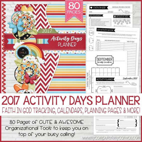 Calendar Ideas Primary : Lds primary activity days calendar just b use