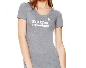 8413 bella Sound Beginnings teacher shirt triblend