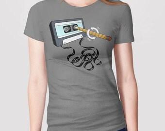 Funny Retro 80s Shirt | Cassette Tape Shirt | Musician Gift | 80s Music T-Shirt | Music Teacher Gift | 80s Nostalgia | Vintage Clothing Tee