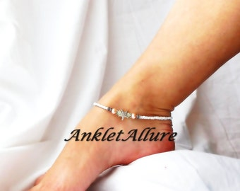 Anklet Ankle Bracelet Beach Foot Jewelry Starfish Anklet Pearl Body Jewelry