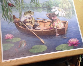 Froggie went a courtin' Illustration