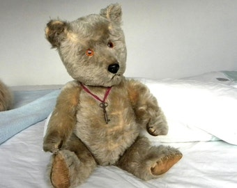 "Chiltern Bear 21"" - Large 1960's Chiltern  - Vintage Mohair Chiltern Bear - Working Squeaker"