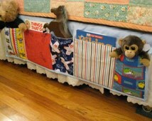 Child's Bed Caddy, Book Toy Organizer, Bedside Caddy