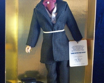 Gone with the Wind Rhett Butler portrait doll black suit
