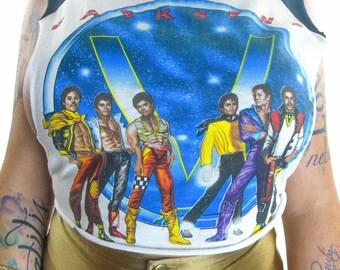 Vintage Jackson 5 shirt The Jacksons Michael Jackson 80s tee Concert shirt 80s shirt Band tee Punk Rock Soul Janet Jackson 80s Soft Thin