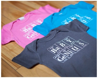 BABY GENIUS Periodic Table Creeper - The Original Baby Genius - Baby Gift For Scientist Parents (Pink)