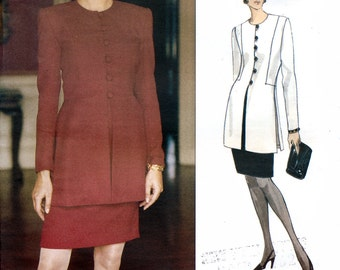 Vogue American Designer 1287 Sewing Pattern by Scaasi Misses' Top and Skirt - Uncut - Size 12, 14, 16 - Bust 34, 36, 38