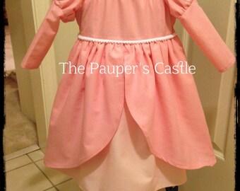 Disney Ariel Pink Princess Dress / Costume / Girls/Child's/Toddler Casual Cotton Pull Over Dress