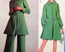 Vintage Vogue 2179 Sewing Pattern, Teal Traina, 1960s Dress Pattern, LABEL, Wide Legged Pants Pattern, Bust 34, 60s Sewing Pattern Americana
