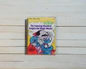 Little Golden Book/ Recycled Journal/ Spiral journal/ blank notebook/  The Amazing Mumford