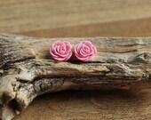 Sakura Pink (14) 13mm Dainty Resin Rose Cabochons CF1027