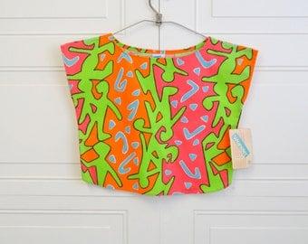1980s NOS Girl's Wrangler Print Shirt