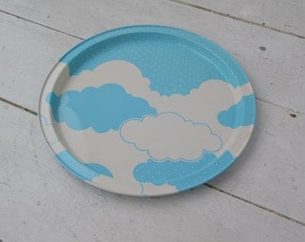 1980s Clouds Tin Tray