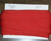 Brick Red Braided Folded Bias Tape edging, Cut by the Yard, for carpet binding, quilting bias per yd single fold for crafts