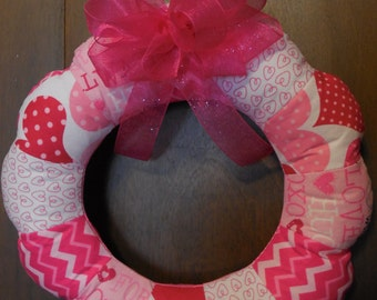Valentine's Day Mini Fabric Wreath