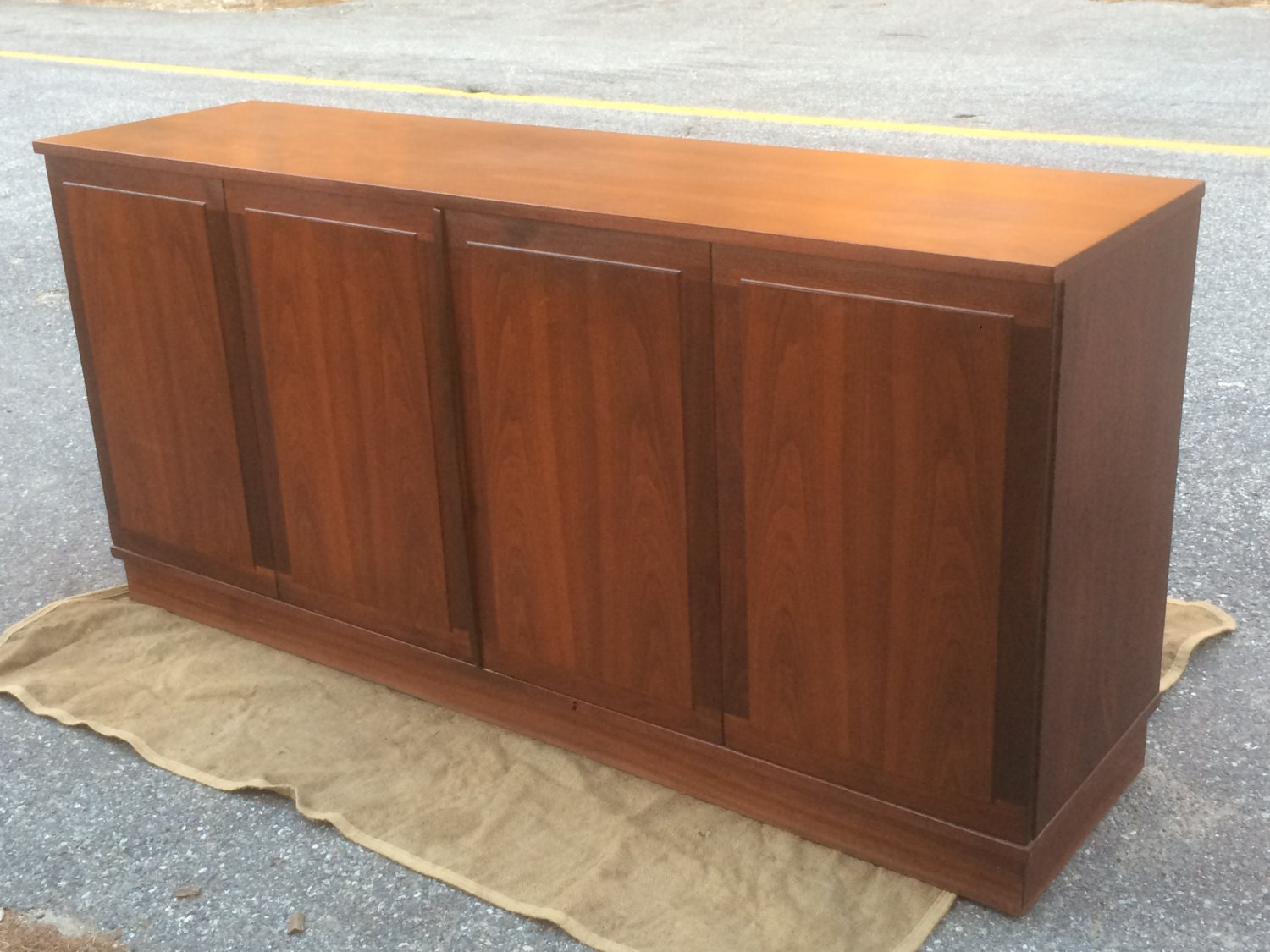 Credenza / Sideboard Or Buffet – Great TV Stand Or For Dining Room. Full resolution  portrait, nominally Width 1500 Height 1125 pixels, portrait with #986A33.