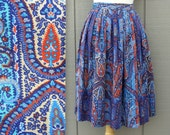 Vintage Paisley Skirt with Pocket