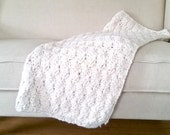 Chunky Crochet Shell Accent Toss Throw Blanket - Made to Order