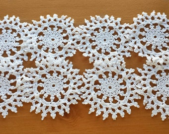 Small Crochet Doilies, 3.5 inch, Set of 8 Craft Doilies Set, Lace Doilies for Weddings, Holidays, Decorating, and Crafts, Crochet Mandalas