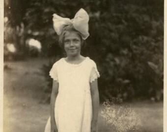 "Vintage Photo ""Little Miss Allison"" Girl Snapshot Photo Antique Photo Black & White Photograph Found Photo Paper Ephemera Vernacular - 100"