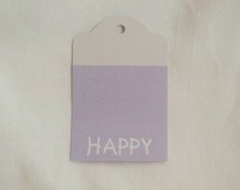 Up-Cycled HAPPY Tag Set of 3