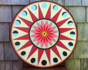 Pennsylvania Dutch Hex Sign - Sun and Moon 1