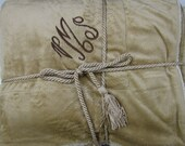Luxurious Faux Lambs Wool and Suede Personalized Monogram Embroidered Blanket Throw For Adults