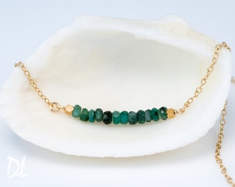 Gemstone Bar Necklaces