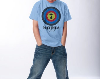 7th Birthday Shirt - Super Archer 7th Birthday Tee (Use any number) - Boys Personalized Birthday Shirts - Girls Archery Birthday Party