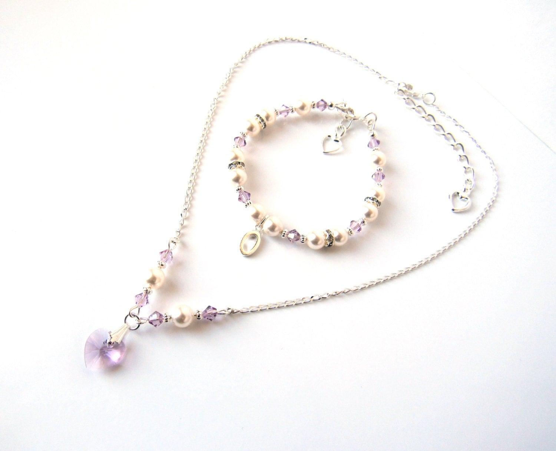 Flower girl jewelry set eBay
