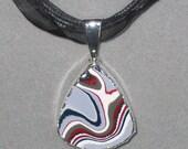 Fordite Sterling Silver Pendant