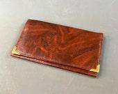 Vintage Brown Leather Wallet c.1970s