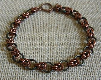 Half-Byzantine & Loops Chainmaille Bracelet