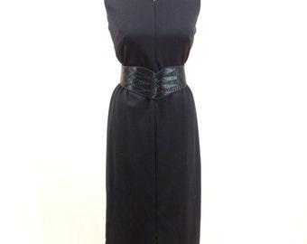 Black Maxi Dress * 60s Maxi Dress * Black Dress * Sleeveless Dress * Evening Gown * KeyHole Dress * 60s Dress * 1960s Dress * Mod Dress