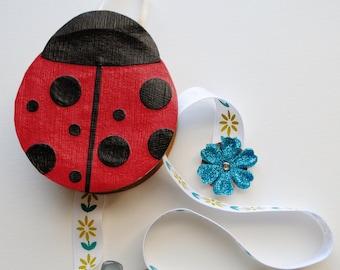 Red Lady Bug Barrette Holder