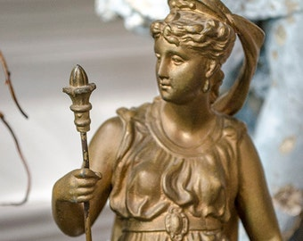 Antique FRENCH Statue, Spelter, from France