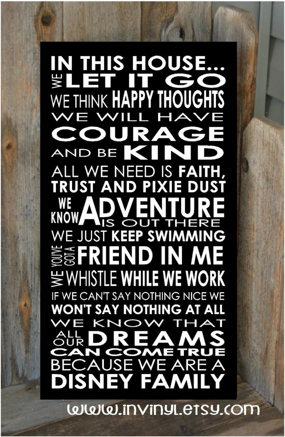 In This Disney Home Welcome Family Rules Disney Motto