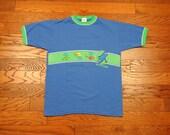 vintage 90s Dr Seuss shirt One Fish Two Fish Red Fish Blue Fish ringer tee 1990 t-shirt 100% cotton Seuss Wear large L