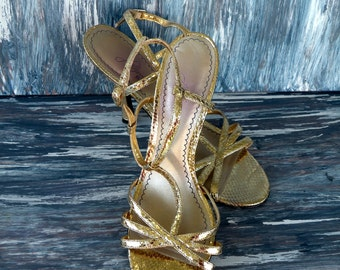 Gold Metallic- Classic Wedding Shoe- Low Heels Dressy Sandal Shoe 2017 Summer Trends Bridesmaid Mother Bride Accessories Party Shoes Formal