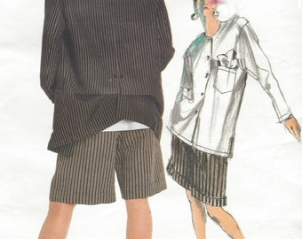 80s Issey Miyake Womens Jacket, Shirt & Shorts Vogue Sewing Pattern 1869 Size 8 Bust 31 1/2 UnCut Label Included Rare Issey Miyake Vintage