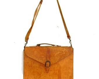 Industrial Leather Bag Vintage Crossbody Messenger