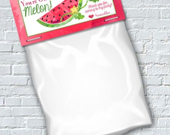 One in a Melon Treat Bag Topper