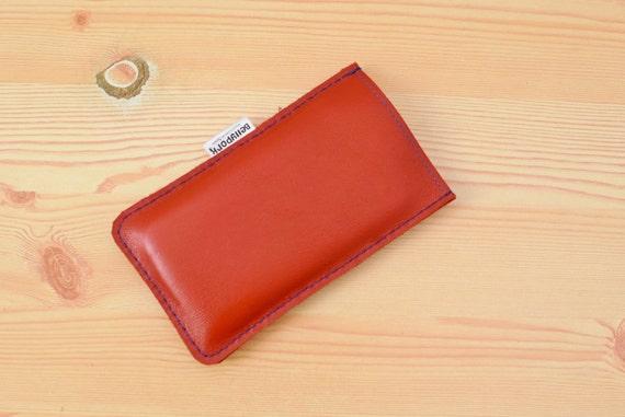 Iphone case, leather case, phone case, iPhone 6 case, smartphone case, red leather case, mobile case, mobile leather case, iPhone cover