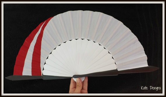 KAGURA INUYASHA WEAPONS Hand Fan Wooden Handheld Folding Fan Cosplay Size Options