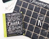 Wooden Chalkboard Calendar, Distressed, Engraved sections