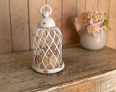 Shabby chic Wire cloche - Dollhouse - Miniatures-