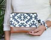 Wristlet Wallet, Clutch Purse,  Bridesmaid Gift, Leather Clutch Bag, iPhone Wristlet, Zipper Pouch, Bridesmaid Clutch, Handbag
