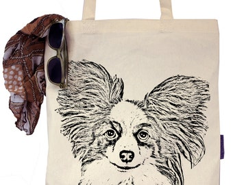 Macy the Papillion - Eco-Friendly Tote Bag